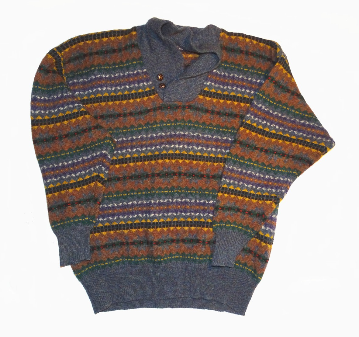 garment made of flat knitted fabric